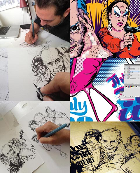 John Waters process by Omar Angulo